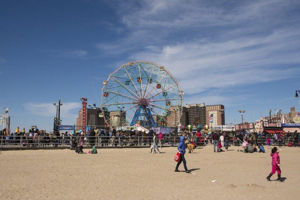 Coney Island buiten zomer