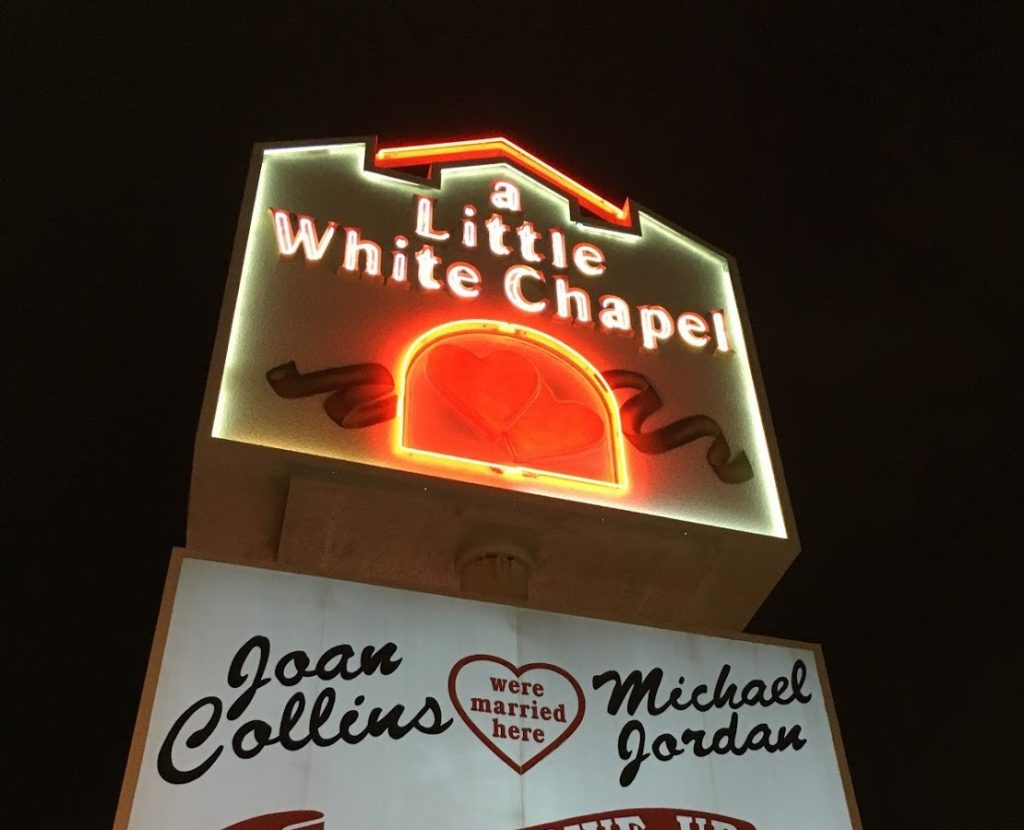 The Little White Wedding Chapel in Las Vegas