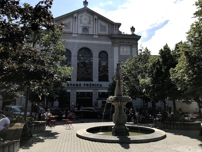 Oude markthal Bratislava