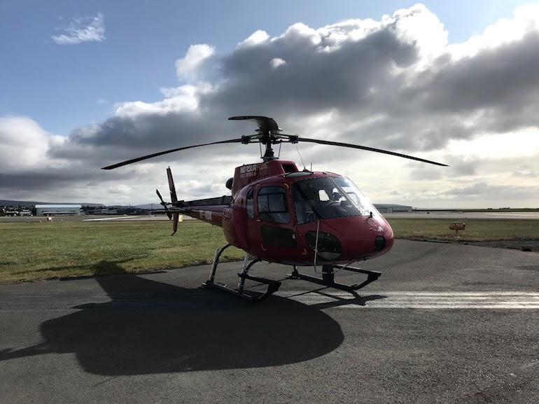 Helikoptervlucht in Reykjavik
