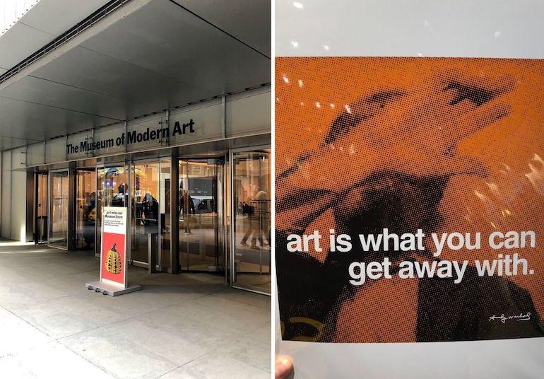 Bekende kunstwerken in het MoMA in New York